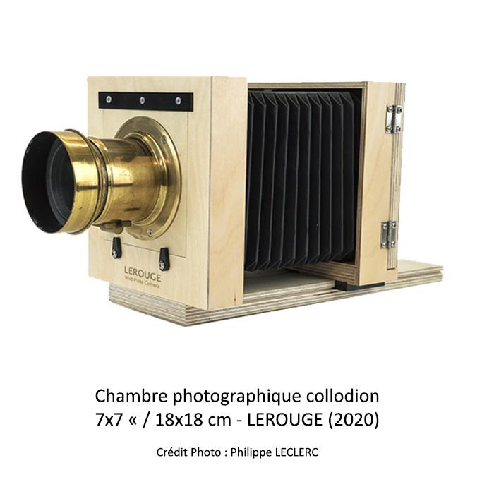 Chambre photographique dédiée à la pratique du collodion humide
